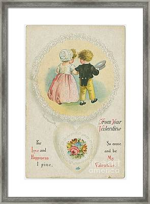 Old Fashioned Valentine Two Framed Print