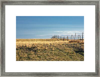 Old Fence Framed Print by Todd Klassy