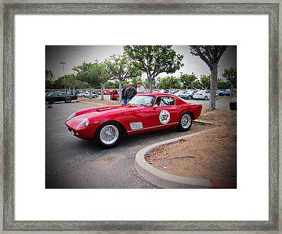 old Ferrari Framed Print by Michael Burleigh