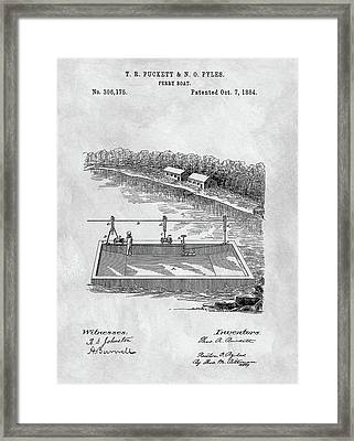 Old Ferryboat Patent Framed Print