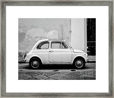 Old Fiat Florence Italy Framed Print by Edward Fielding