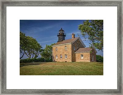 Old Field Point Lighthouse Framed Print by Rick Berk