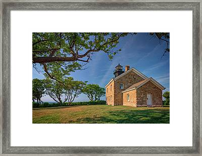 Old Field Point Framed Print