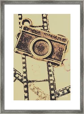 Old Film Camera Framed Print