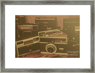 Old Film Cameras Framed Print