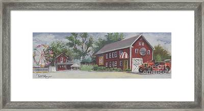 Old Firehouse Winery  Framed Print by Terri  Meyer