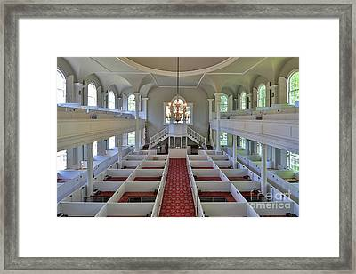 Old First Church Box Pews Framed Print