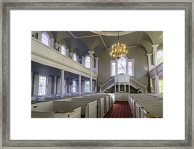 Old First Church Interior Framed Print by Garry Gay