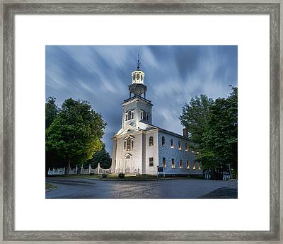 Old First Church Of Bennington Framed Print by Stephen Stookey