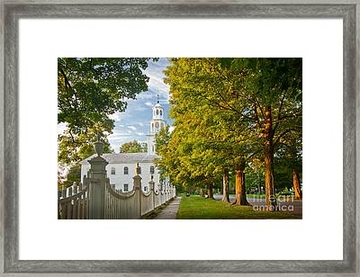 Old First Churchin Bennington Framed Print by Susan Cole Kelly