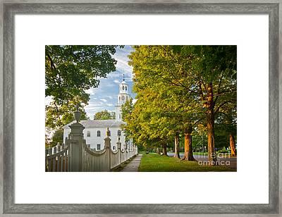 Old First Churchin Bennington Framed Print