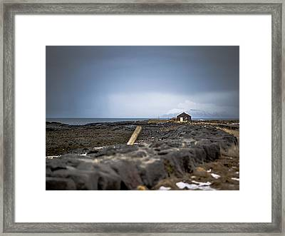 Old Fisherman's Coastal House Framed Print