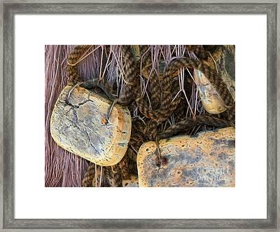 Old Fishing Nets Framed Print by Lutz Baar