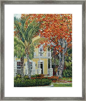 Old Flame Framed Print by Danielle  Perry