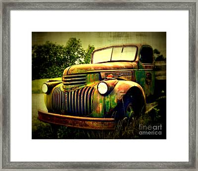 Old Flatbed 2 Framed Print by Perry Webster