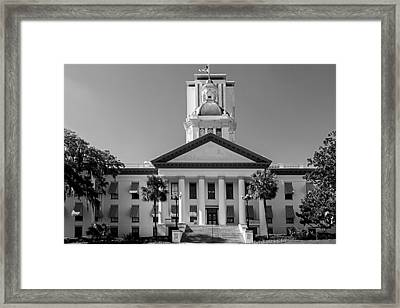 Old Florida Capitol In Black And White  Framed Print by Frank Feliciano