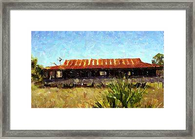 Old Florida Paint Framed Print by Michael Morrison