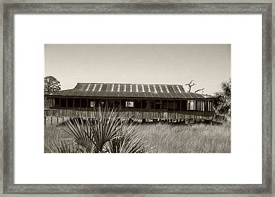 Old Florida Sepia Framed Print by Michael Morrison