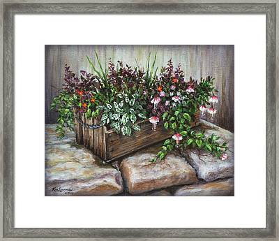 Framed Print featuring the painting Old Flower Box by Kim Lockman