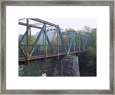 Old Foot Bridge Framed Print