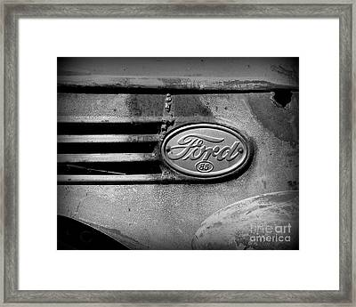 Old Ford 85 Framed Print by Perry Webster