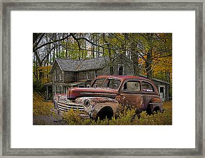 Old Ford Coupe Framed Print by Randall Nyhof