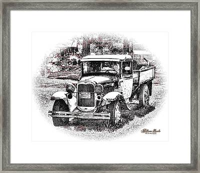 Old Ford Homemade Pickup Framed Print