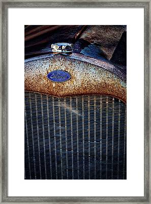 Old Ford Tractor Grill Framed Print by Stuart Litoff