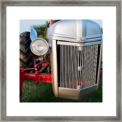 Ford Tractor 9n Tractor Front Framed Print