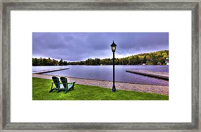 Old Forge Waterfront Framed Print by David Patterson
