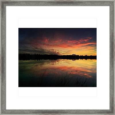 Old Fort Bayou Sunset #landscape Framed Print