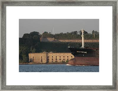 Old Fort New Fortune Framed Print