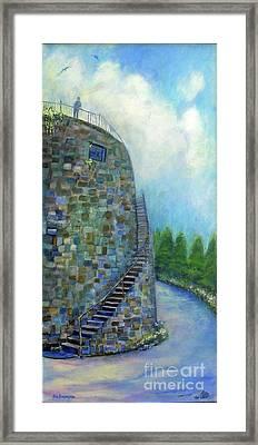 Old Fort Wall On Savannah River Street Framed Print by Doris Blessington