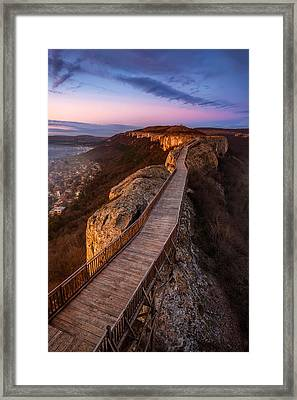 Old Fortress At Sunset Framed Print