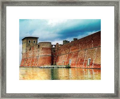 Old Fortress In Livorno Framed Print by Sue Melvin