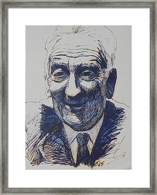Framed Print featuring the drawing Old Fred. by Mike Jeffries