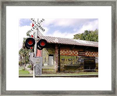 Old Freight Depot Perry Fl. Built In 1910 Framed Print
