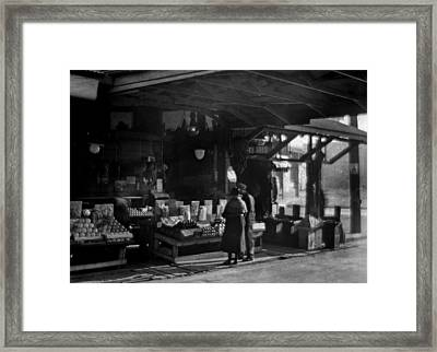 Old French Market Framed Print