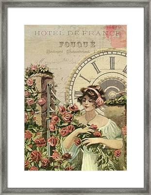 Old French Poster Framed Print