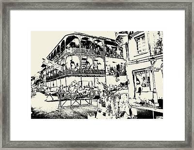 Old French Quarter New Orleans - Ink Framed Print
