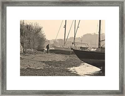 Old Friends At Mylor Bridge Framed Print by Terri Waters