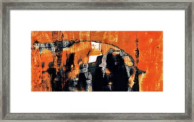 Old Friends - Large Contemporary Abstract Art Painting Framed Print by Modern Art Prints