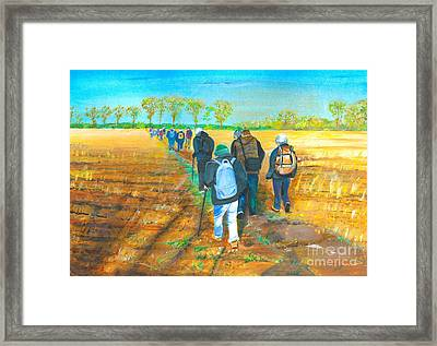 Old Friends-painting Photo Courtesy Of Alan Lee Framed Print by Veronica Rickard