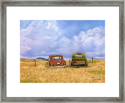 Two Old Friends  Framed Print by Sarah Batalka