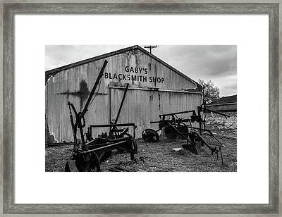Old Frisco Blacksmith Shop Framed Print