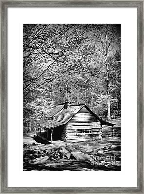 Old Frontier Cabin  Framed Print