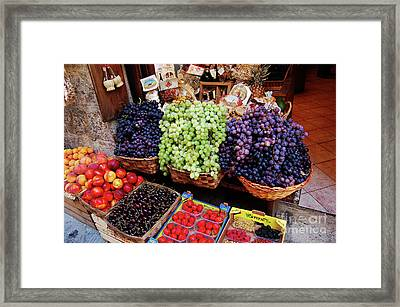 Old Fruit Store Framed Print