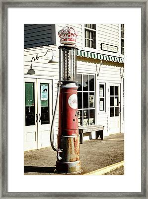 Framed Print featuring the photograph Old Fuel Pump by Alexey Stiop