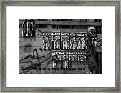 Old Fuse Board Framed Print