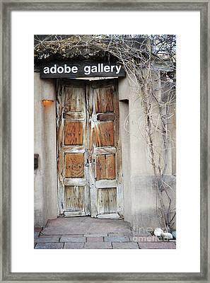 Framed Print featuring the photograph Old Gallery Door by Andrea Hazel Ihlefeld